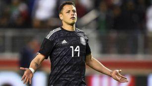 Chicharito, durante un encuentro de la Selección Mexicana