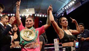 Mariana Juárez tras ganar una pelea contra Diana Fernández