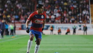 Jesús Sánchez durante un partido con Chivas