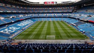 El estadio Santiago Bernabéu previo a un duelo