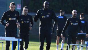 Jugadores del Inter durante un entrenamiento