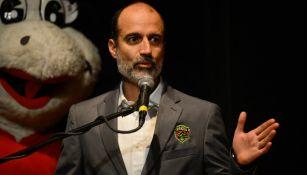 Guillermo Cantú durante su presentación con Juárez