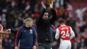 Mikel Arteta agradece a la afición en Inglaterra