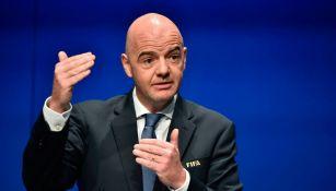 Infantino preside la FIFA desde febrero de 2016