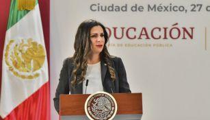 Ana Gabriela Guevara, en un evento