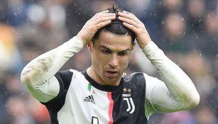Cristiano Ronaldo se lamenta en un juego de la Juventus