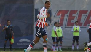 Marco Granados, en un partido de Chivas