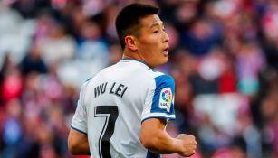 Wu Lei, en un juego con el Espanyol