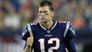 Tom Brady, durante un partido con New England Patriots