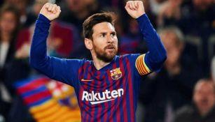 Lionel Messi, jugador del Barcelona, celebrando una anotación