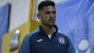 Lucas Passerini previo a un partido