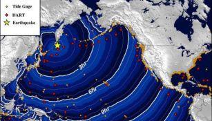 Posible trayectoria de tsunami