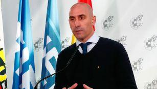 Luis Rubiales, en conferencia de prensa