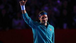 Roger Federer, en el juego que tuvo en La Plaza México