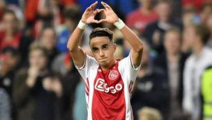 Nouri, en un partido del Ajax