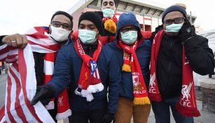 Afición del Atlético en Liverpool