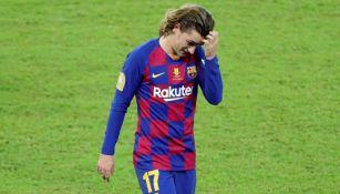 Griezmann lamenta una falla en un duelo con el Barcelona