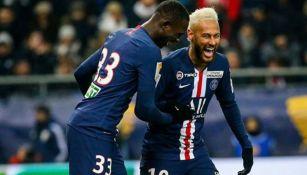 Neymar celebra un gol en un partido del PSG