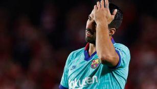 Luis Suárez lamenta la derrota contra Granada
