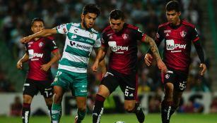 Atlas vs Santos en partido del Clausura 2020
