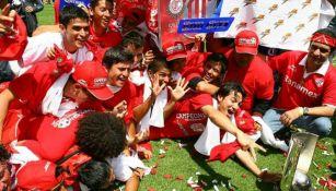Jugadores del Toluca celebran el Título del Bicentenario 2010