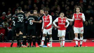 Arsenal vs Manchester City en partido