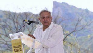 López Obrador en un evento en Badiraguato, Sinaloa