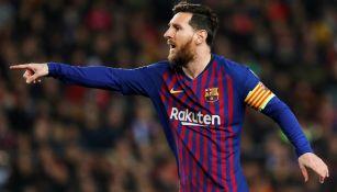 Messi en partido del Barcelona