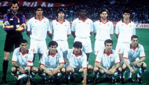 11 del Milan en la Final de Champions League de 1994