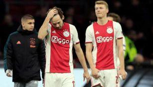Jugadores del Ajax tras una derrota del club