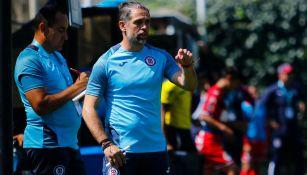 José Antonio Castro durante un duelo de Cruz Azul Sub 17