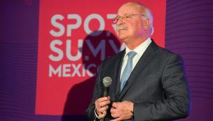 Enrique Bonilla durante el Sports Summit MX 2020