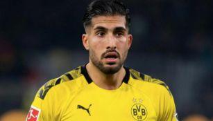 Emre Can en un juego con el Borussia Dortmund