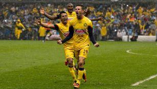Layún, en festejo de gol en la Final