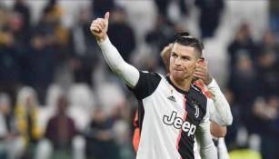 Cristiano Ronaldo celebrando su anotación con la Juventus