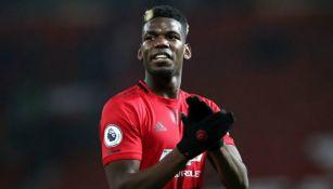 Pogba en partido con Manchester United