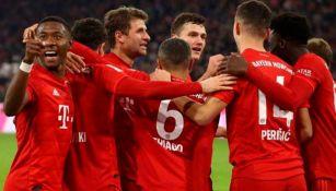 Jugadores del Bayern festeja un gol