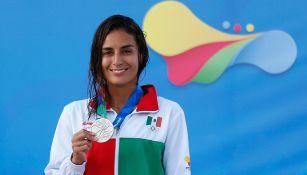 Espinosa presume una medalla en los últimos Juegos Centroamericanos