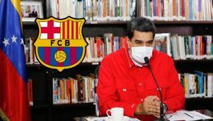 Nicolás Maduro mostró su afición al Barcelona