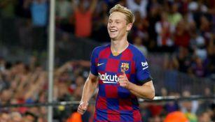Frankie de Jong en acción con Barcelona