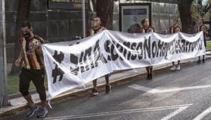 Jugadores de Leones Negros se manifiestan por la abolición del Ascenso