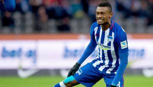 Salomon Kalou durante un partido del Hertha Berlín