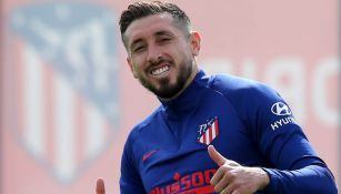 Héctor Herrera durante el regreso a los entrenamientos