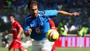 Joaquín Beltrán durante un partido con Cruz Azul