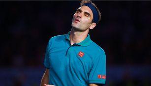 Roger Federer en el The Greatest Match del año pasado