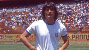 Rodolfo Montoya en su etapa como jugador de Cruz Azul