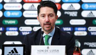 El presidente de la Federación Mexicana de Futbol, Yon de Luisa