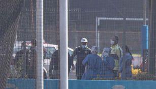 Jugadores del América asisten a su prueba de Covid-19