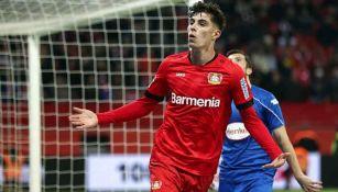 Havertz, celebrando un gol con el Bayern