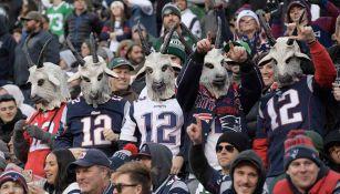Fans de Tom Brady, durante un juego de los Patriots en 2019
